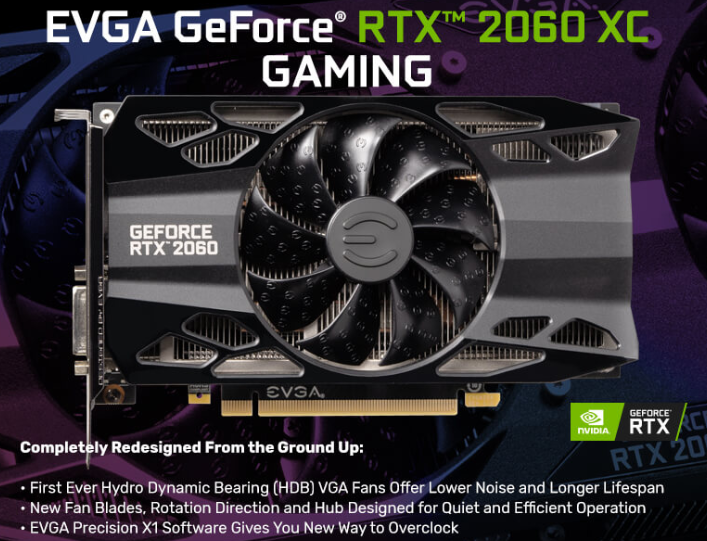 EVGA Geforce RTX 2060 6GB XC